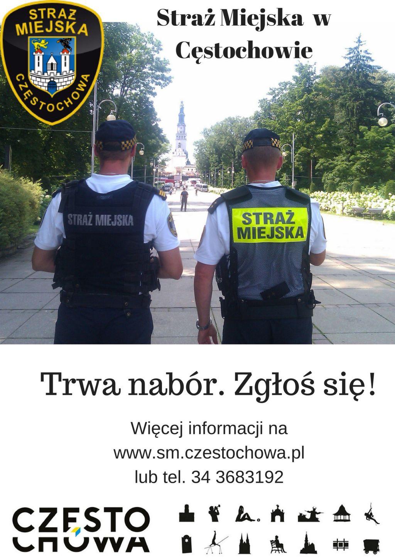 Jest praca! Trwa nabór do Straży Miejskiej w Częstochowie